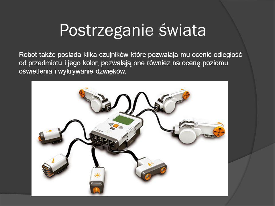 Robot także posiada kilka czujników które pozwalają mu ocenić odległość od przedmiotu i jego kolor, pozwalają one również na ocenę poziomu oświetlenia