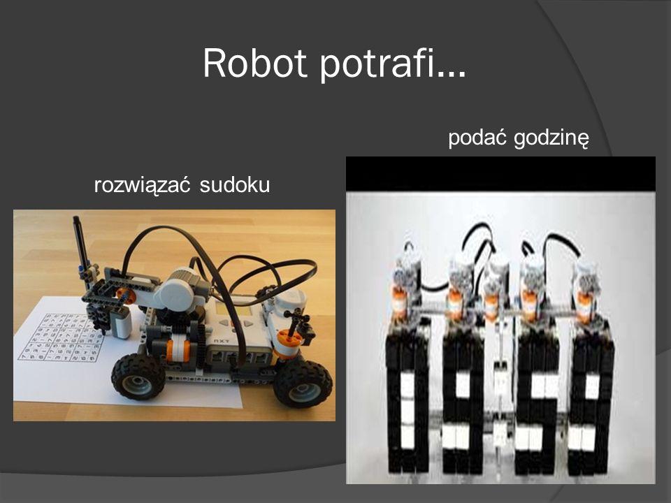 Robot potrafi… rozwiązać sudoku podać godzinę