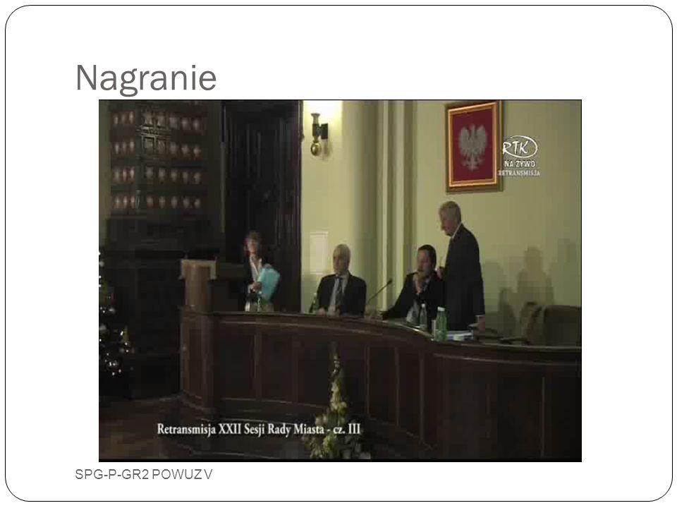 Udział w XXII Sesji Rady Miasta SPG-P-GR2 POWUZ V 24 stycznia 2012 roku