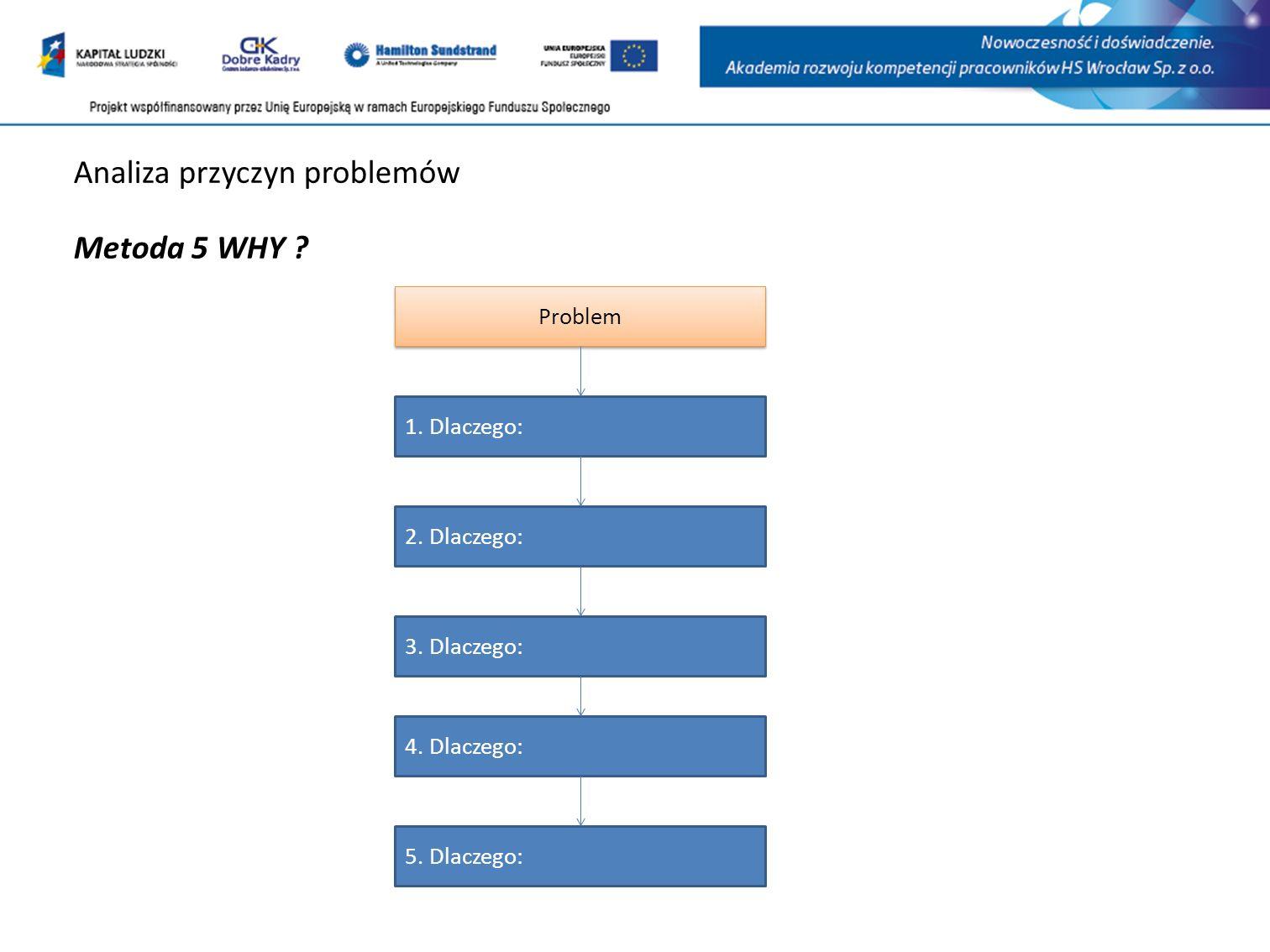 Analiza przyczyn problemów Metoda 5 WHY .Problem 1.
