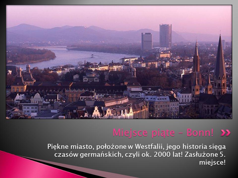 Piękne miasto, położone w Westfalii, jego historia sięga czasów germańskich, czyli ok. 2000 lat! Zasłużone 5. miejsce! Miejsce piąte – Bonn!