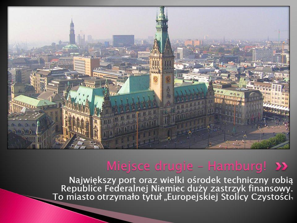 Największy port oraz wielki ośrodek techniczny robią Republice Federalnej Niemiec duży zastrzyk finansowy. To miasto otrzymało tytuł Europejskiej Stol