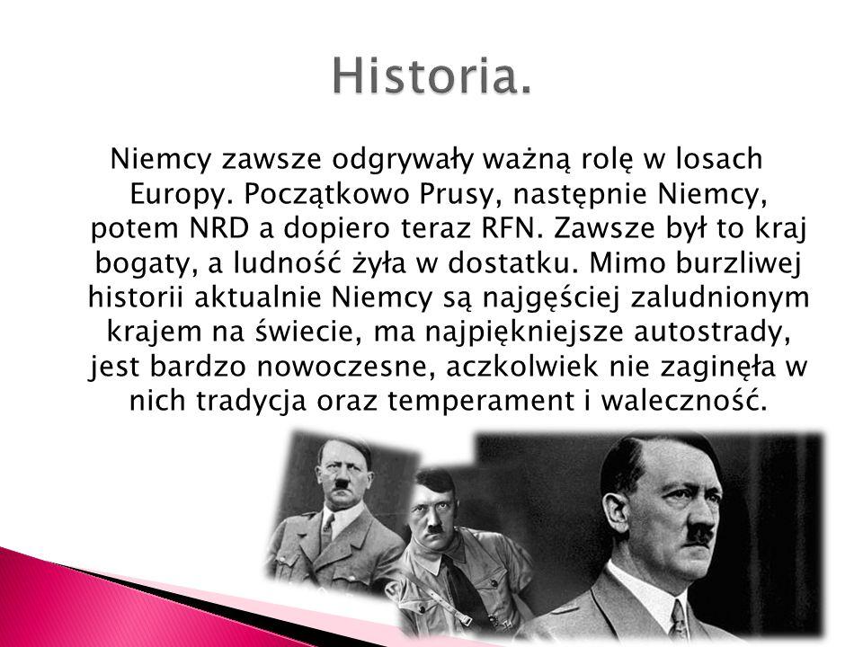 Niemcy zawsze odgrywały ważną rolę w losach Europy. Początkowo Prusy, następnie Niemcy, potem NRD a dopiero teraz RFN. Zawsze był to kraj bogaty, a lu