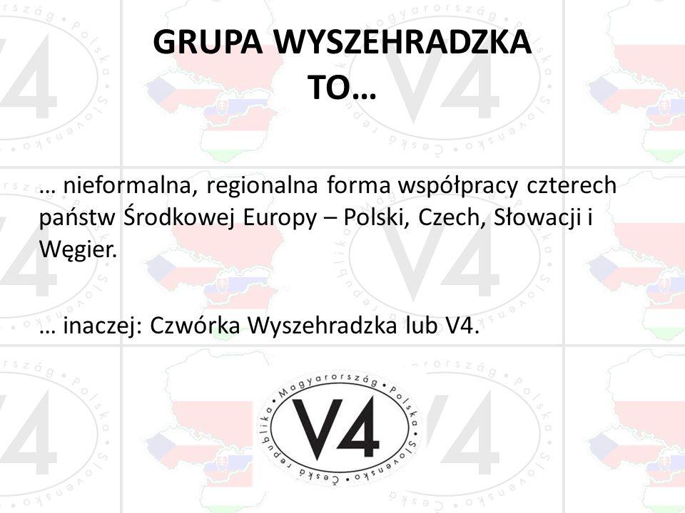 GRUPA WYSZEHRADZKA TO… … nieformalna, regionalna forma współpracy czterech państw Środkowej Europy – Polski, Czech, Słowacji i Węgier. … inaczej: Czwó