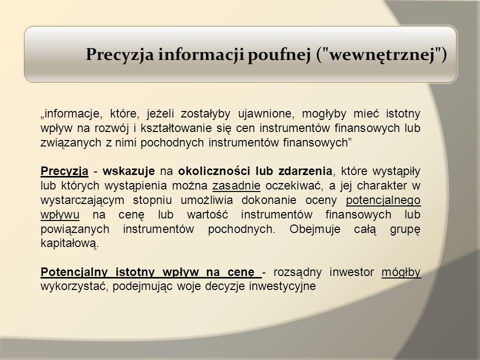 Precyzja informacji poufnej (