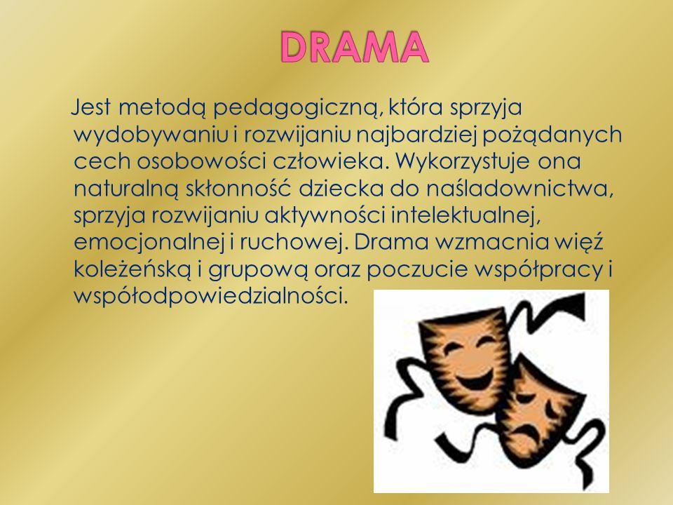 Zabawy sytuacyjne: Uczniowie muszą przedstawić znany wcześniej tekst w krótkiej scenie.