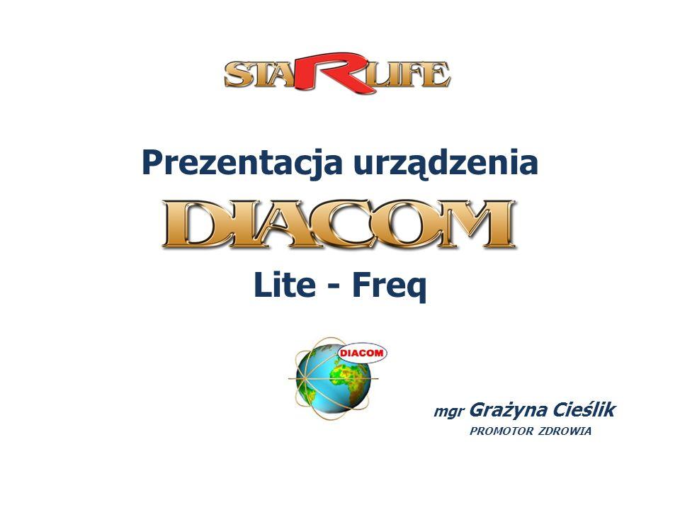 Prezentacja urządzenia Lite - Freq mgr Grażyna Cieślik PROMOTOR ZDROWIA