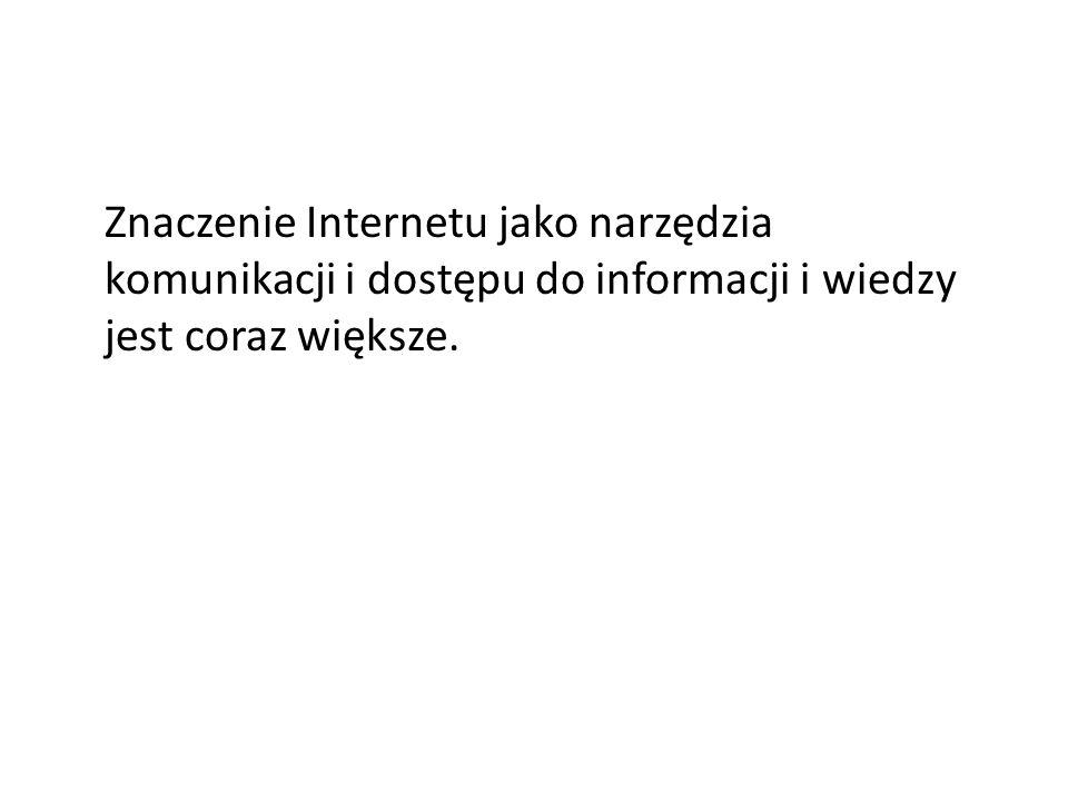 Status społ.-zawodowy internautów i osób niekorzystających z sieci Wśród internautów dominują osoby pracujące a także uczniowie i studenci.