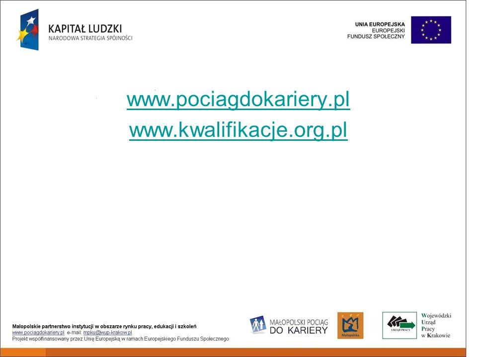 www.pociagdokariery.pl www.kwalifikacje.org.pl