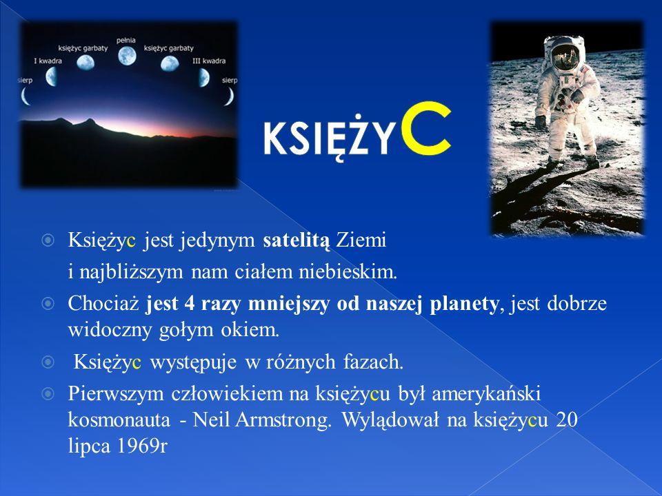 – Dookoła Ziemi ciągle sobie biega Księżyc – naszej Ziemi najbliższy kolega... KSIĘŻY C