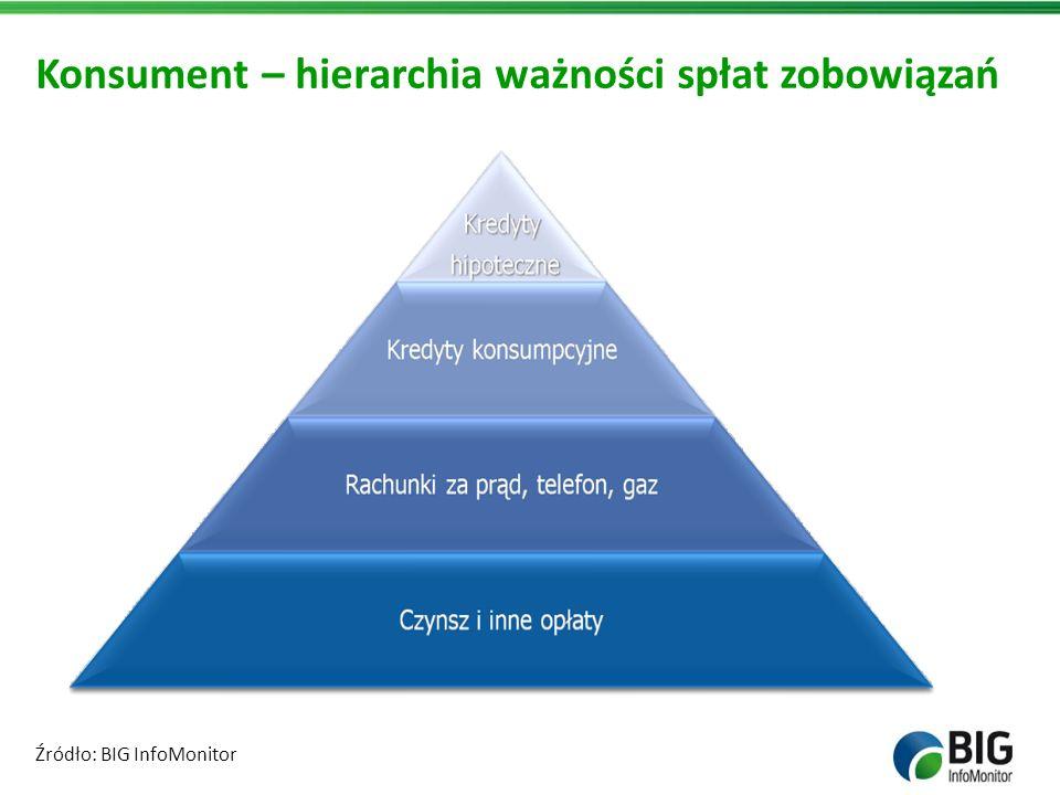 Konsument – hierarchia ważności spłat zobowiązań Źródło: BIG InfoMonitor