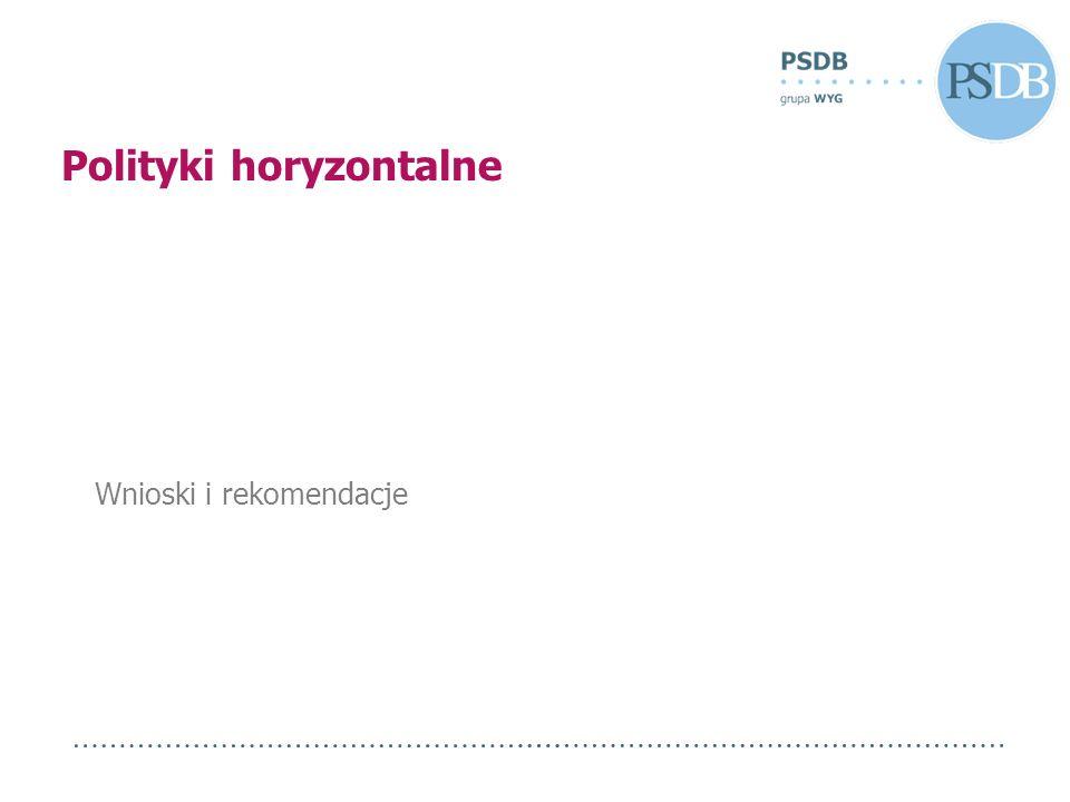 Wnioski i rekomendacje Polityki horyzontalne