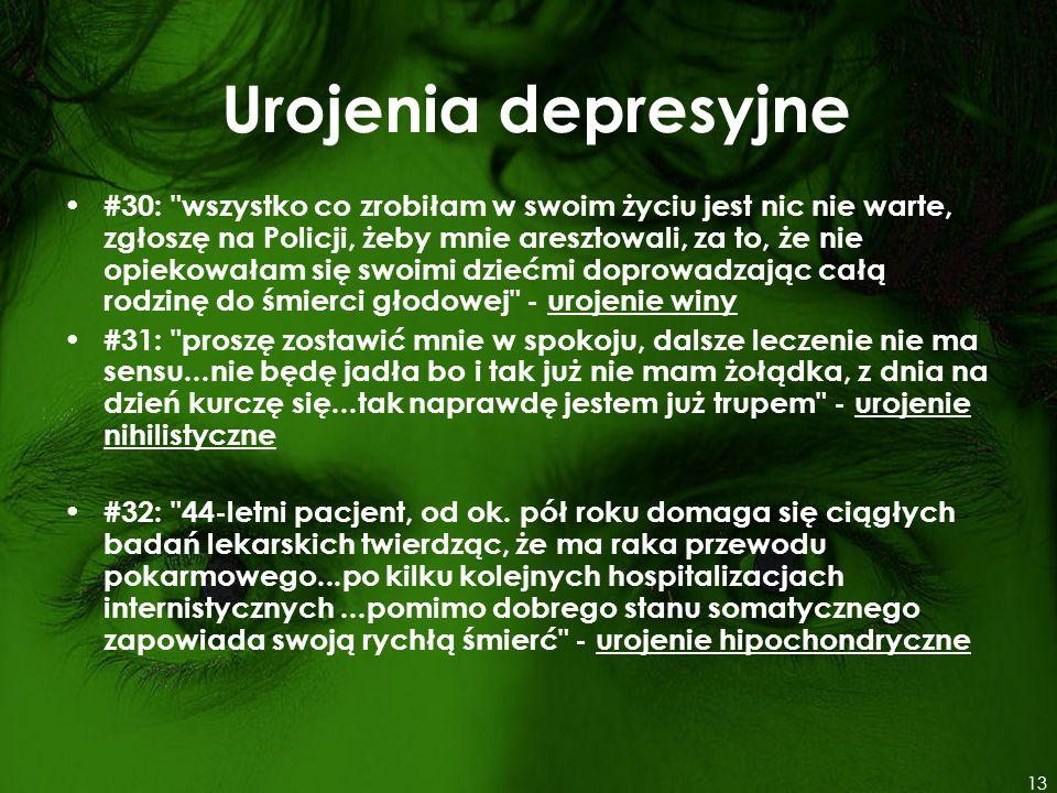 Urojenia depresyjne #30: