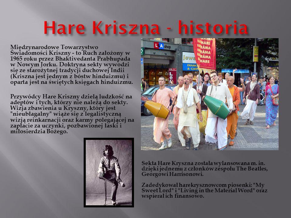 Wywodzi się z hinduizmu proste życie i wzniosłe myślenie tzn. dieta wegeteriańska, słuchanie mistrza tłumaczącego filozofię.