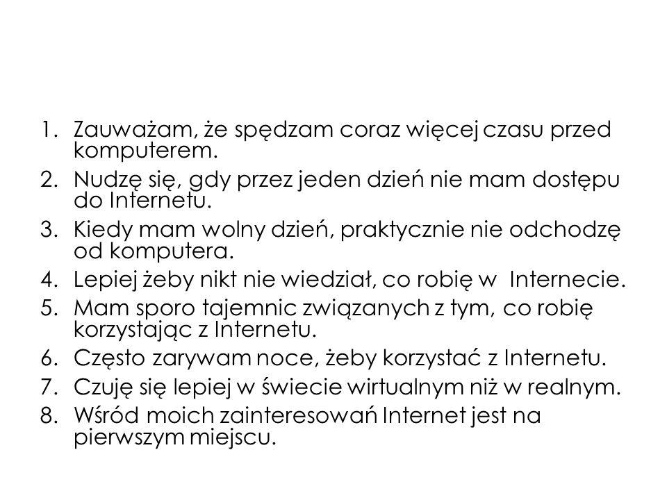 Nauczyciele % Gimnazjaliści (N=2143) (Pyżalski, 2009) Potrafię samodzielnie stworzyć stronę internetową.