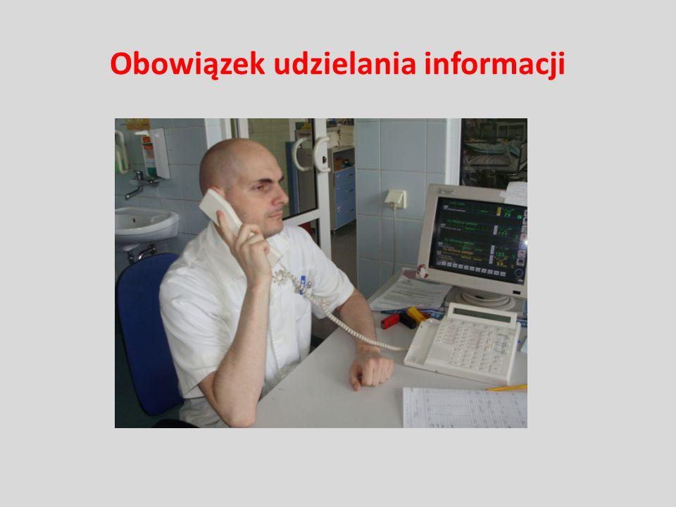 Obowiązek udzielania informacji