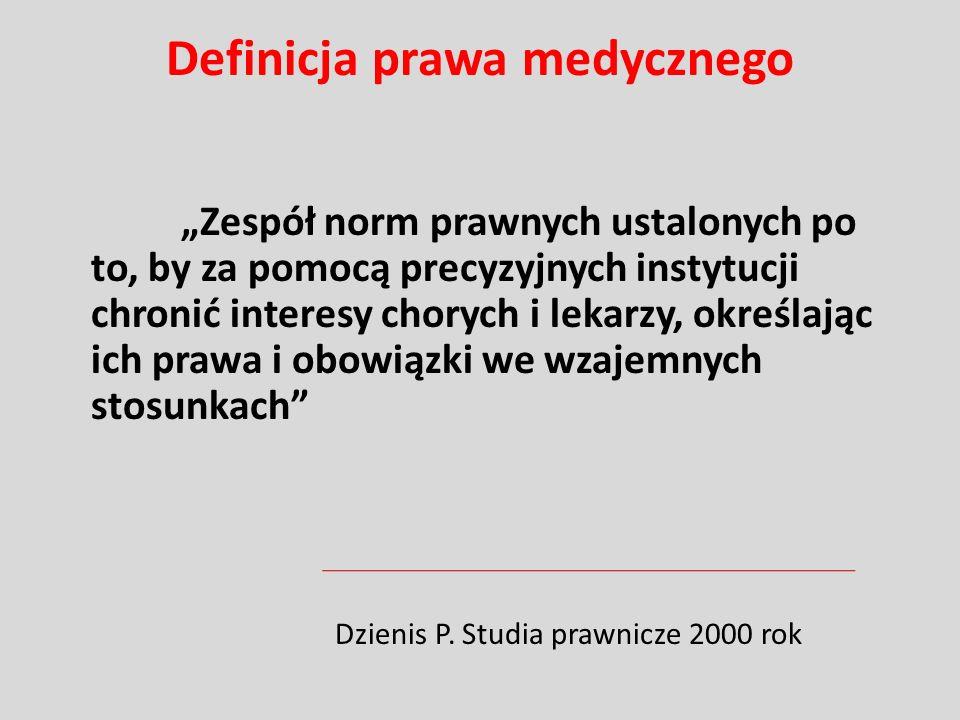 Prawo i medycyna Ustawa z 5 grudnia 1996 roku o zawodach lekarza i lekarza dentysty (Dz.U.