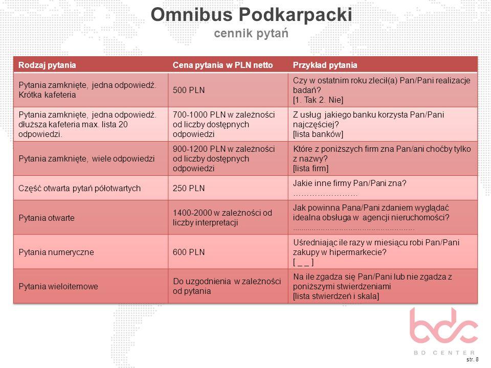 str. 8 Omnibus Podkarpacki cennik pytań