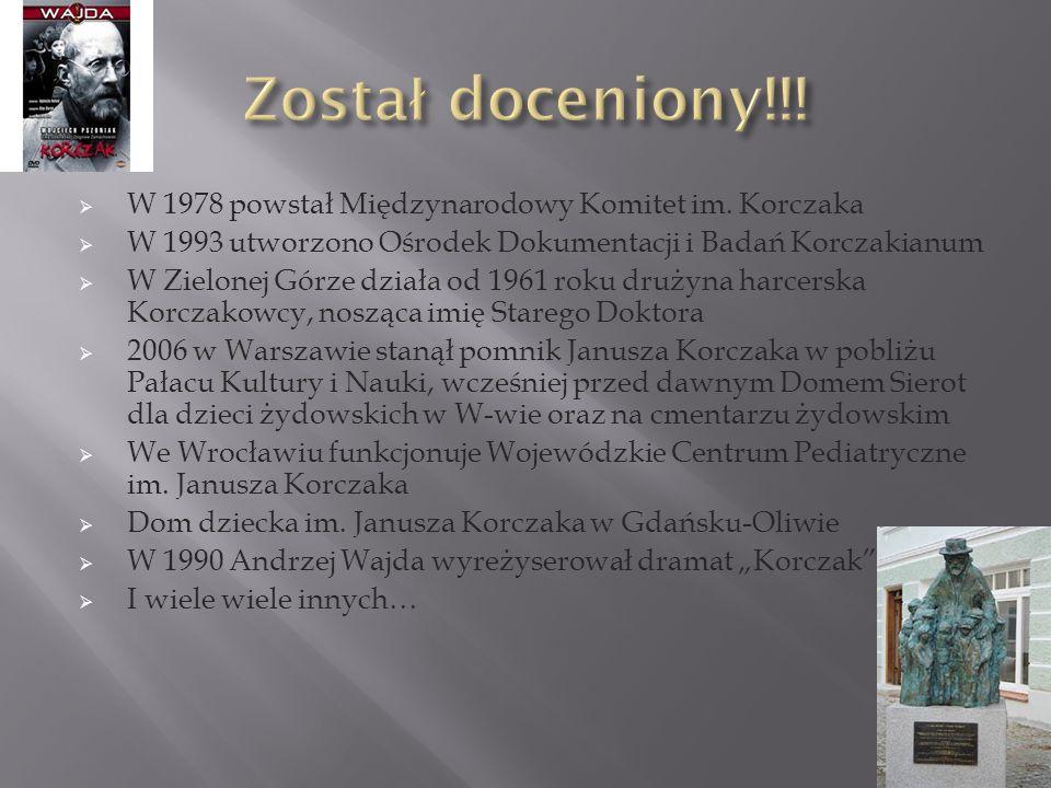 W 1978 powstał Międzynarodowy Komitet im.