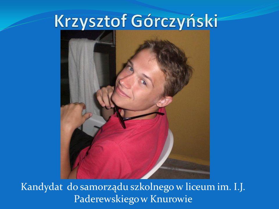 Jak pewnie większość z Was wie nazywam się Krzysiek i uczęszczam do naszego liceum w Zespole Szkół im.