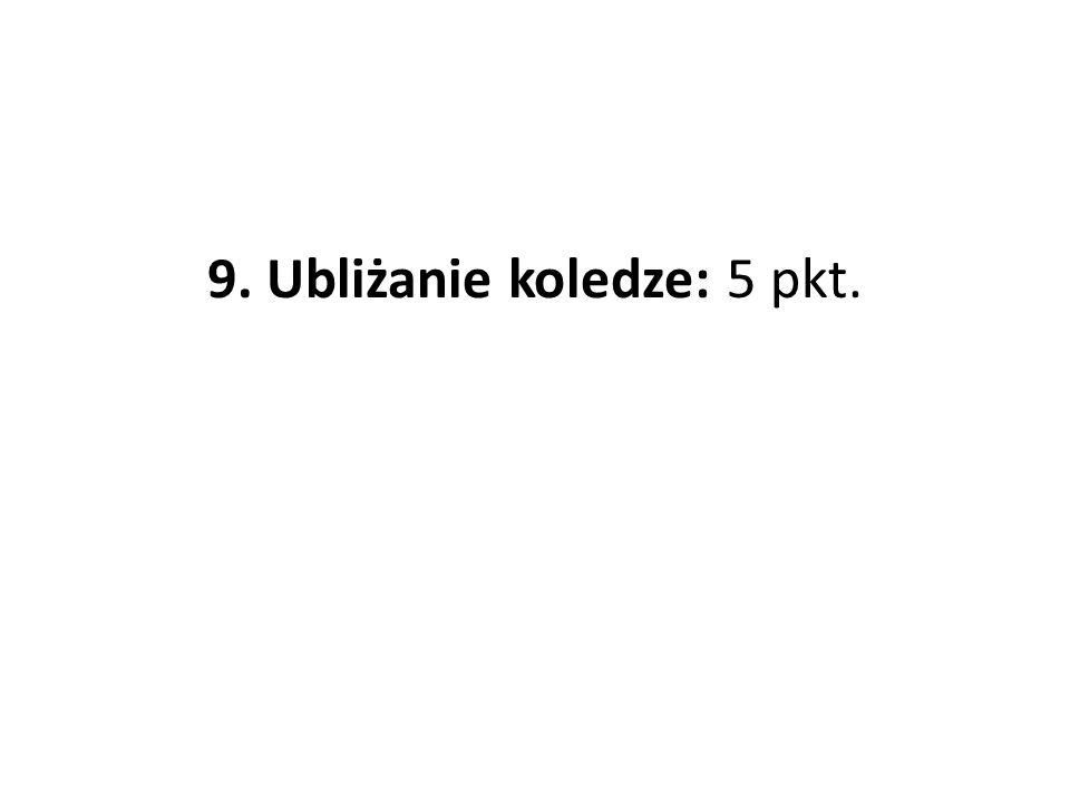 9. Ubliżanie koledze: 5 pkt.