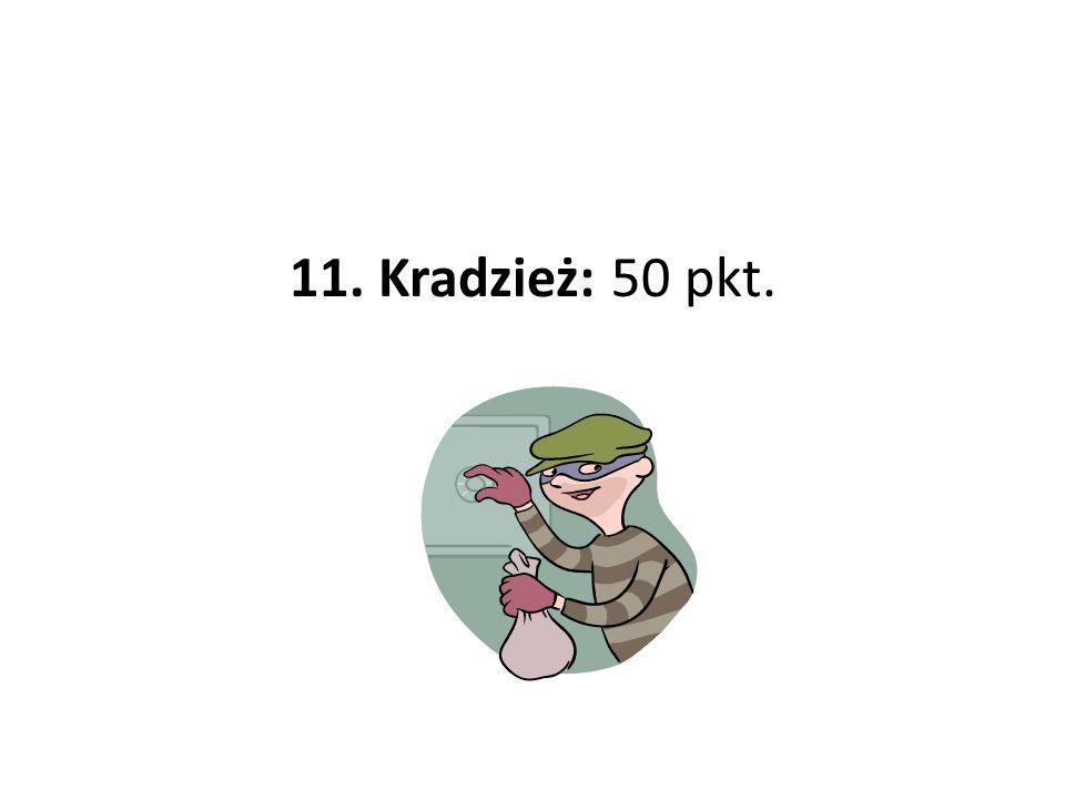 11. Kradzież: 50 pkt.