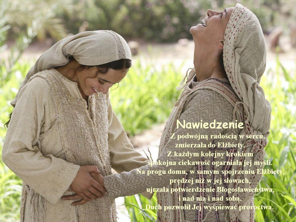 Ukoronowanie Maryja jest przy Jezusie na niebieskiej uczcie.