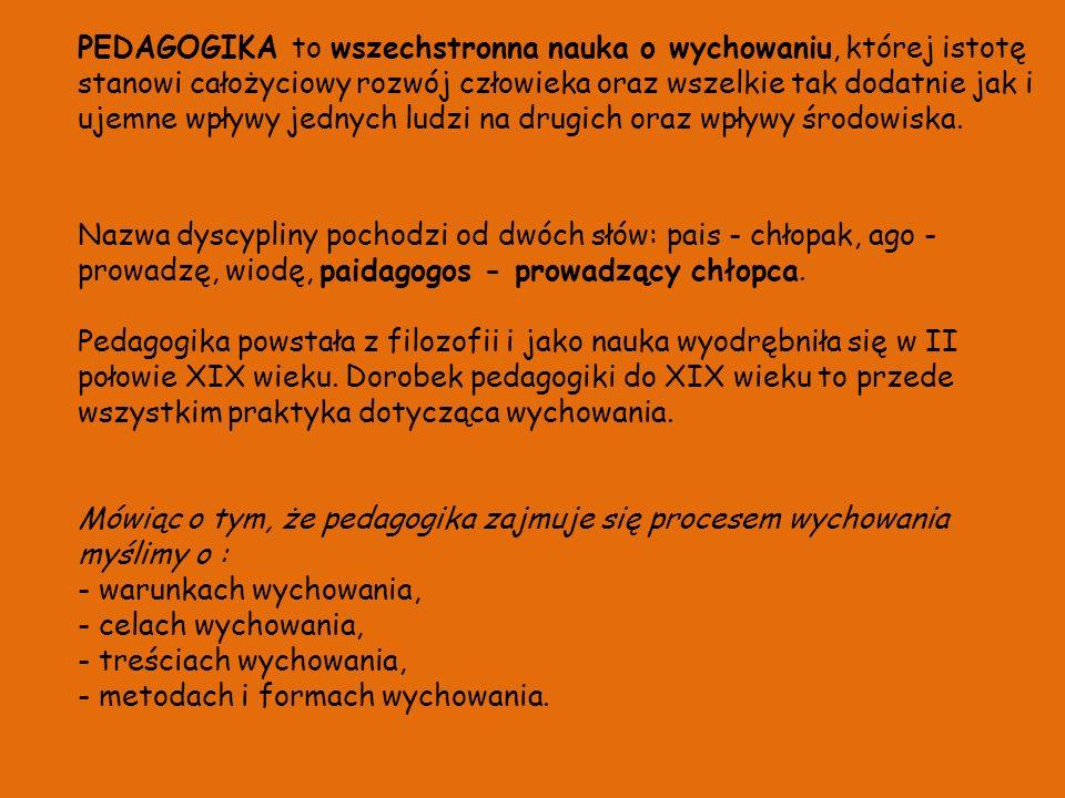 PEDAGOG SZKOLNY to (wg Encyklopedii pedagogicznej ) osoba zatrudniona w szkole w celu uzupełniania, pogłębiania i rozszerzania działalności dydaktyczno-wychowawczej prowadzonej przez nauczycieli.