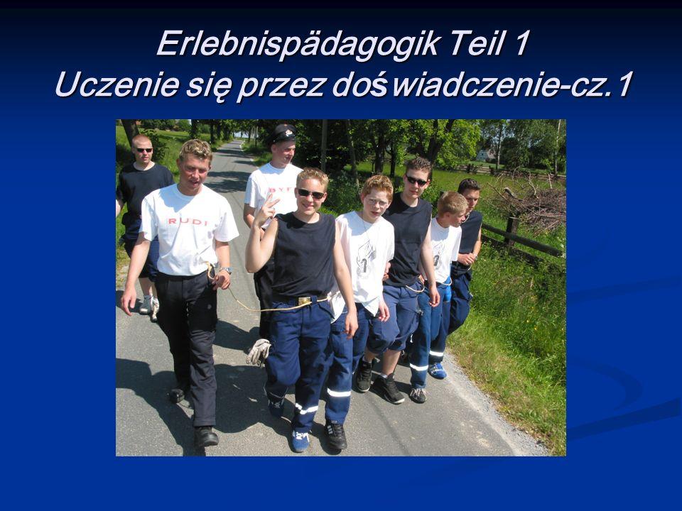 Erlebnispädagogik Teil 1 Uczenie się przez do ś wiadczenie-cz.1