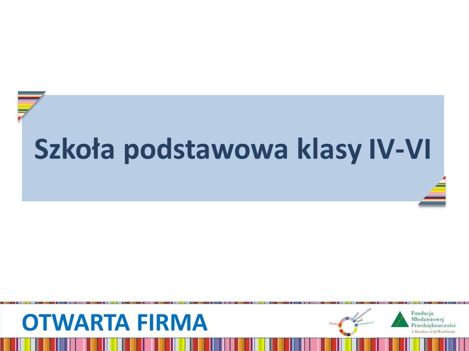 OTWARTA FIRMA Szkoła podstawowa klasy IV-VI