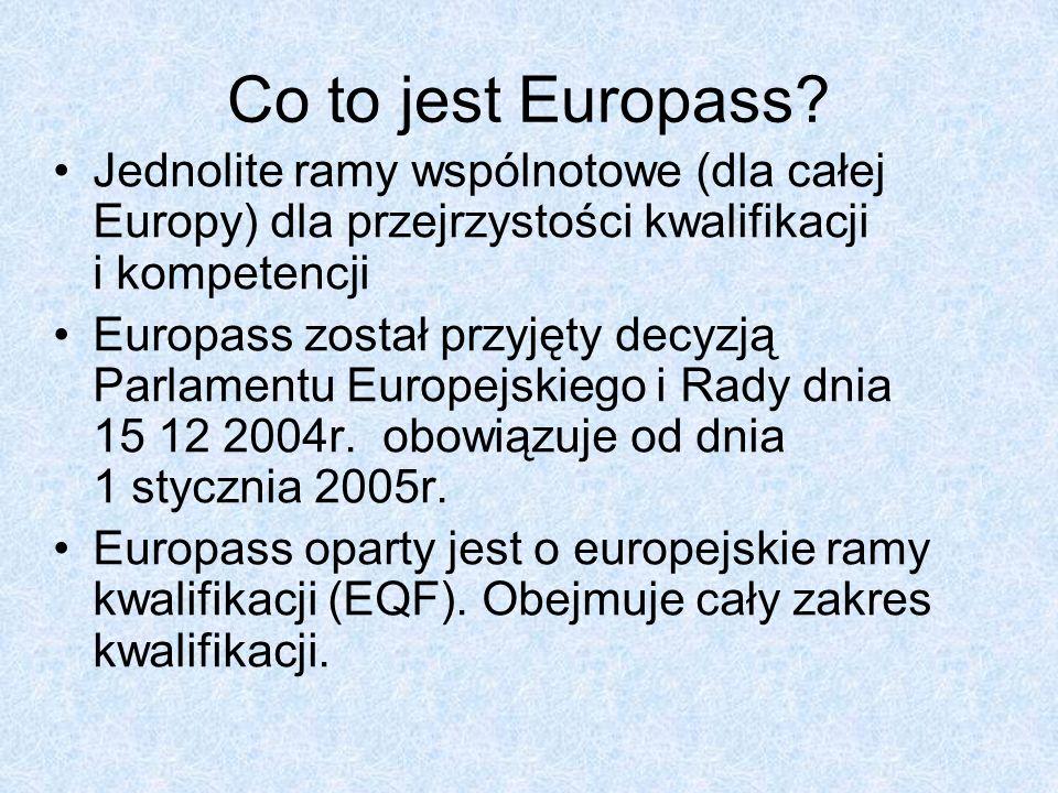 EQF Zasadniczym elementem europejskich ram kwalifikacji jest system ośmiu poziomów odniesienia, opisujących to, co uczący się na danym poziomie wie, rozumie i potrafi.