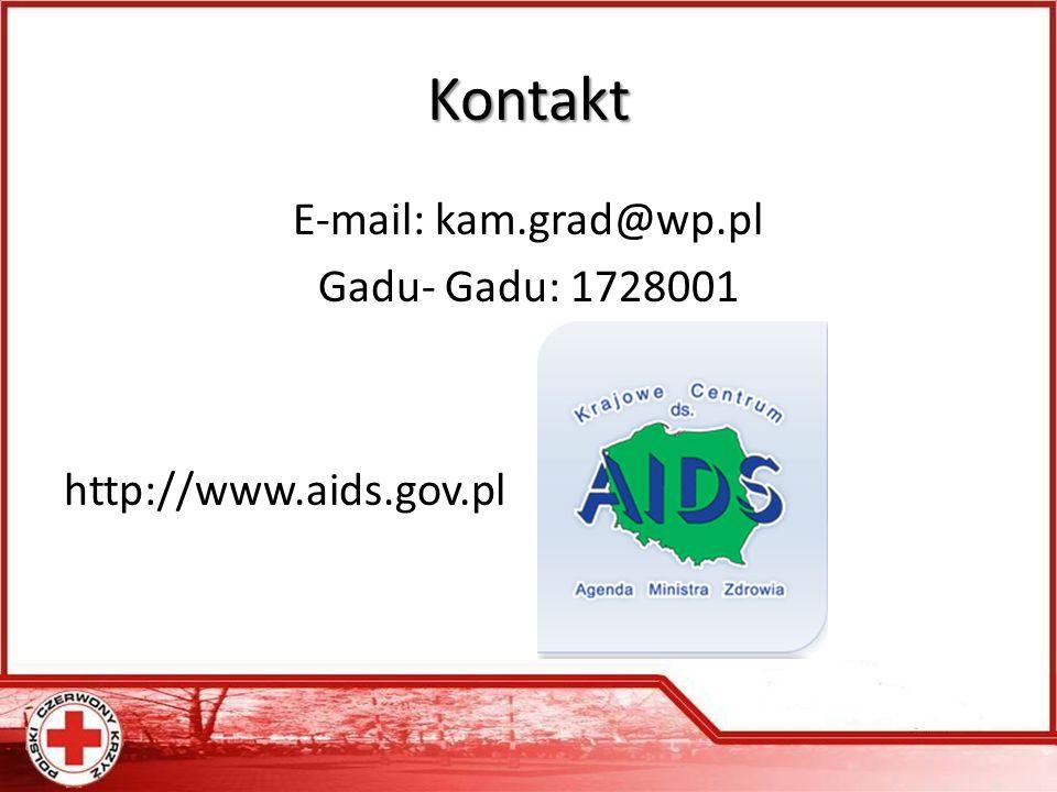 Kontakt E-mail: kam.grad@wp.pl Gadu- Gadu: 1728001 http://www.aids.gov.pl