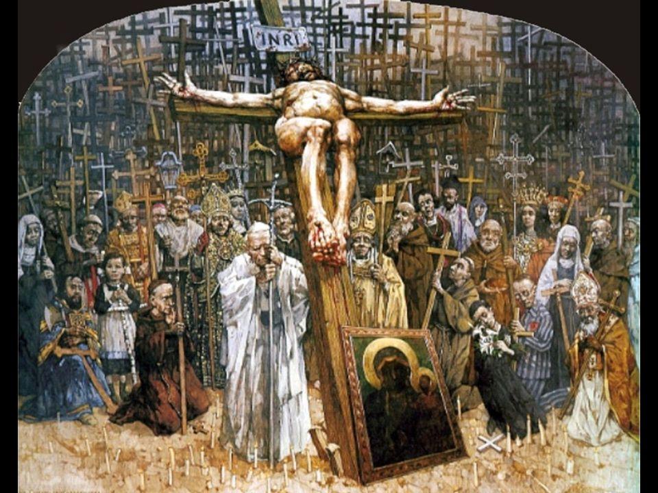 stacja XII Jezus na krzyżu umiera Consumatum est. Wypełniło się. Kiedy Jezus woła z krzyża:
