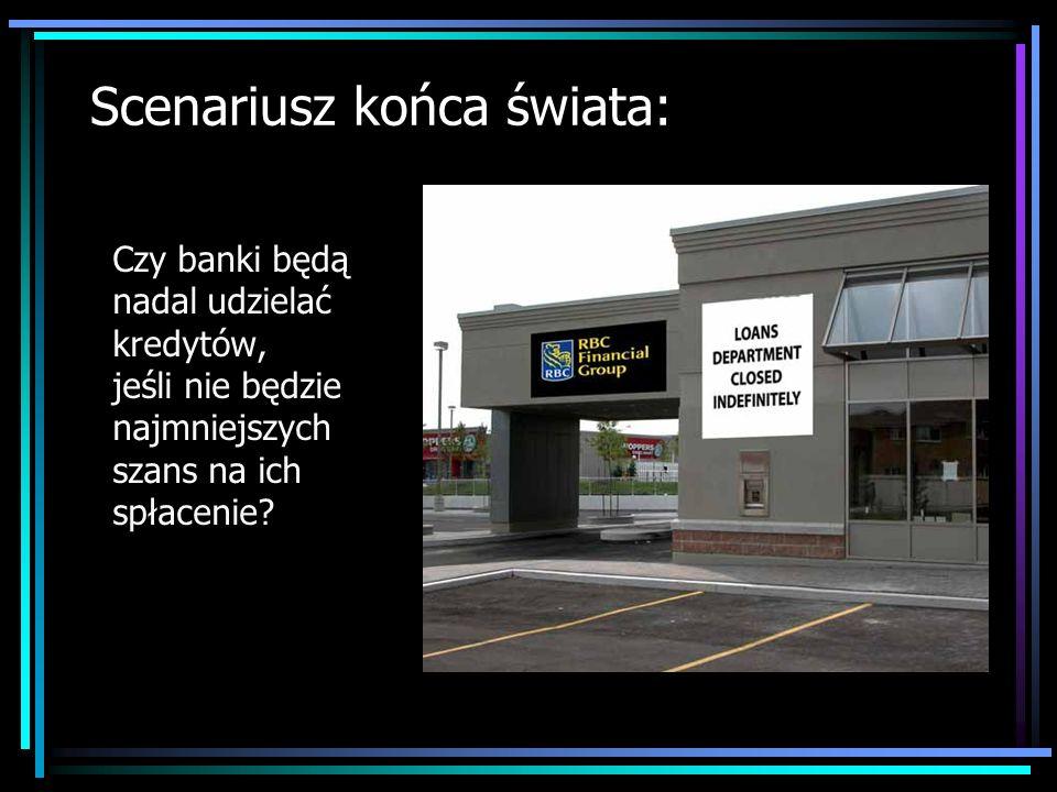 Scenariusz końca świata: Czy banki będą nadal udzielać kredytów, jeśli nie będzie najmniejszych szans na ich spłacenie?