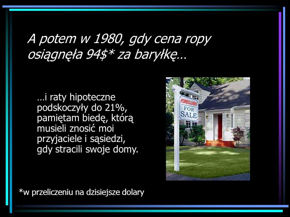 Rationing chip …i raty hipoteczne podskoczyły do 21%, pamiętam biedę, którą musieli znosić moi przyjaciele i sąsiedzi, gdy stracili swoje domy. A pote