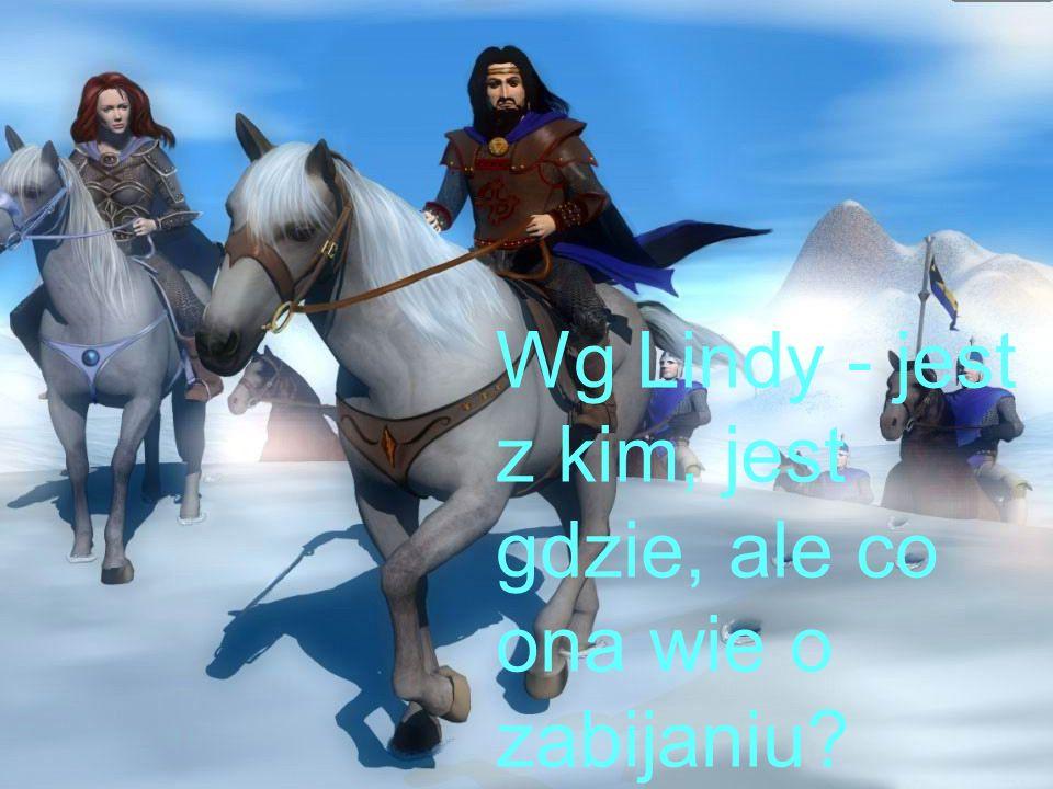 Wg Lindy - jest z kim, jest gdzie, ale co ona wie o zabijaniu?