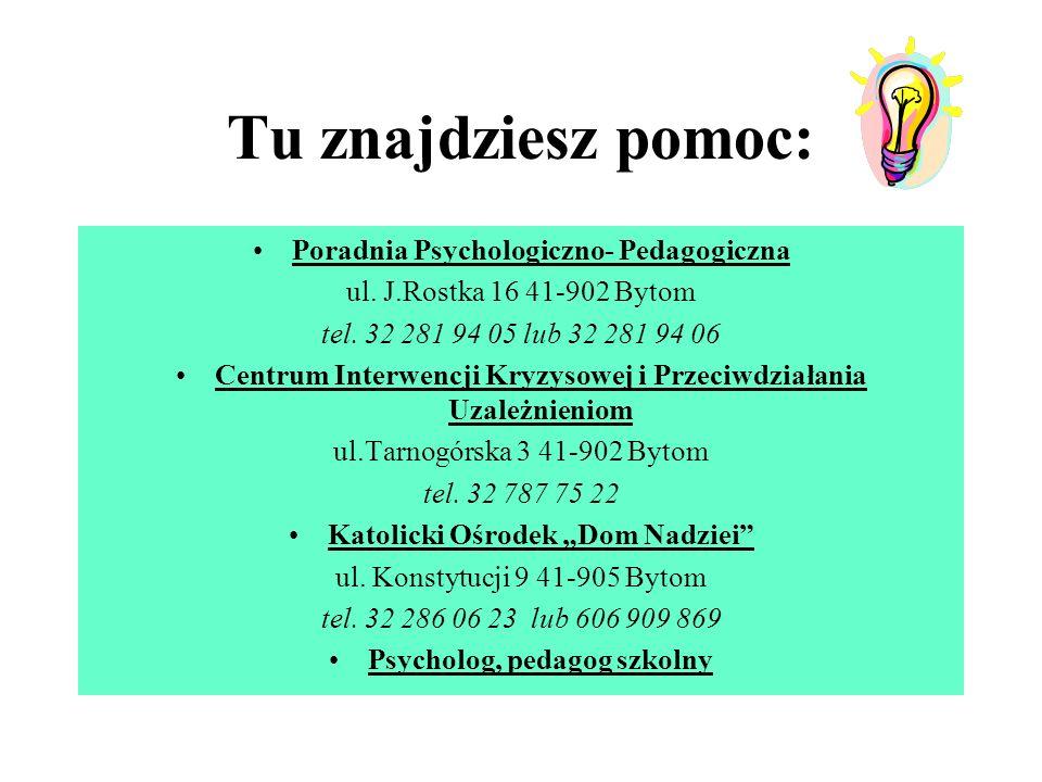 Tu znajdziesz pomoc: Poradnia Psychologiczno- Pedagogiczna ul.