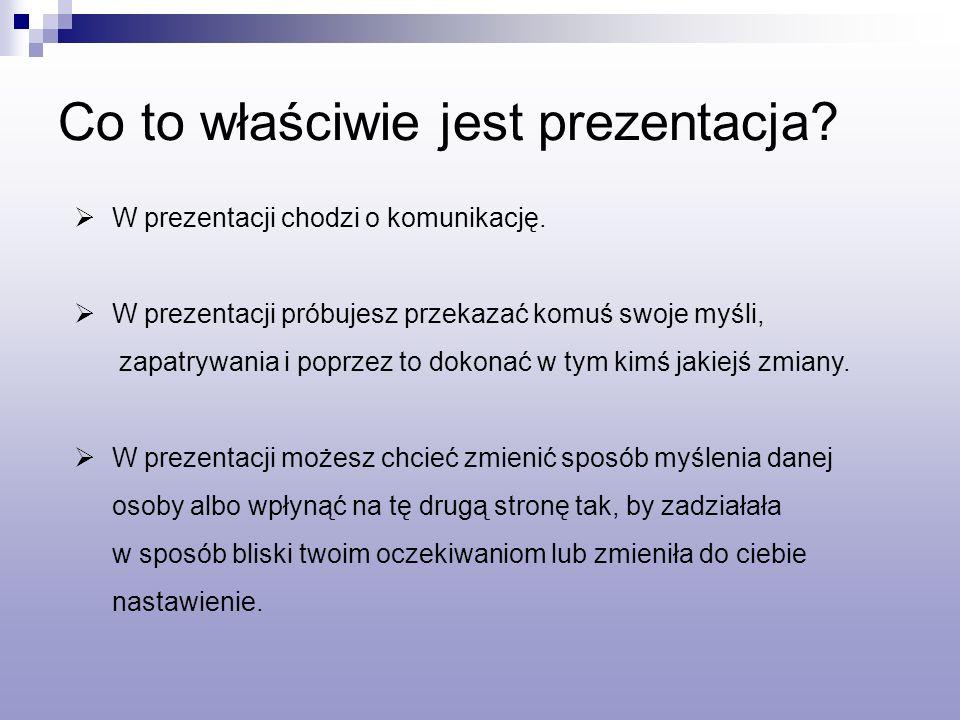 W prezentacji chodzi o komunikację.