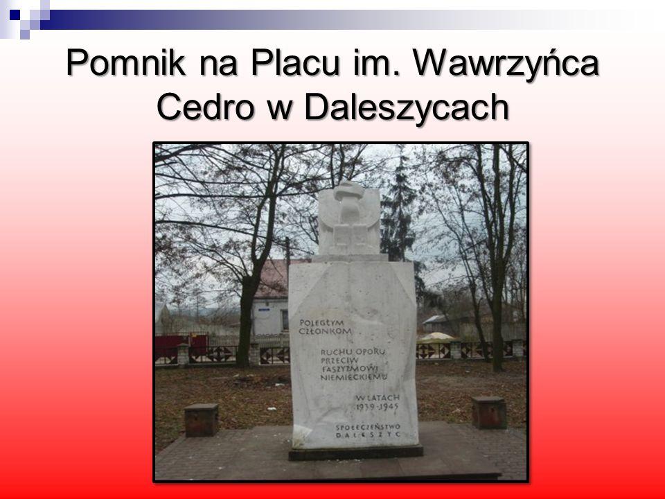 Pomnik na Placu im. Wawrzyńca Cedro w Daleszycach