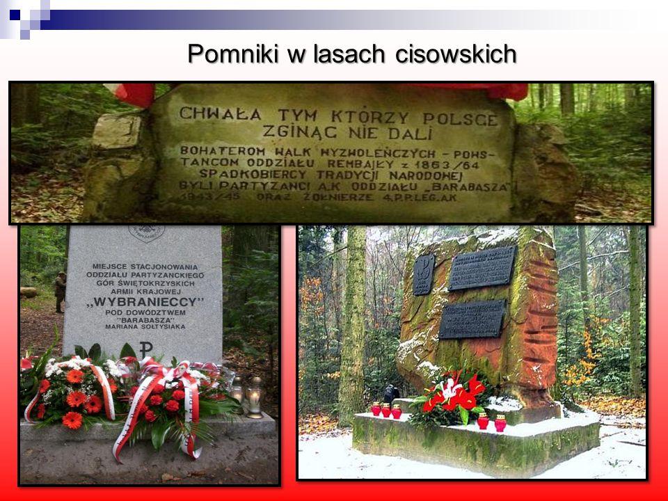 Pomniki w lasach cisowskich Pomniki w lasach cisowskich