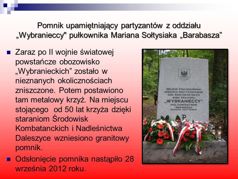 Pomnik upamiętniający partyzantów z oddziału Wybranieccy