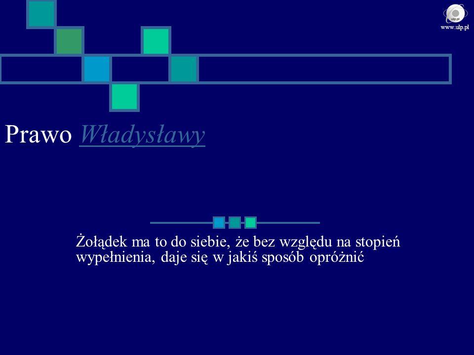 Prawo WładysławyWładysławy Żołądek ma to do siebie, że bez względu na stopień wypełnienia, daje się w jakiś sposób opróżnić www.ulp.pl