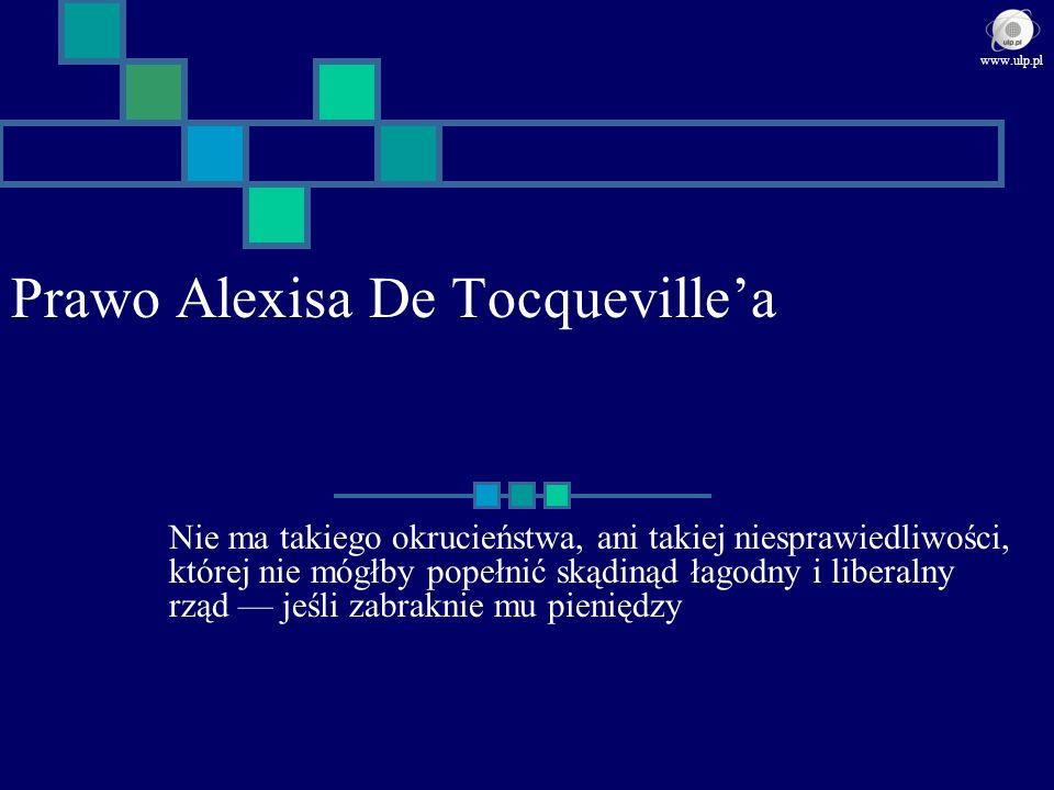 Prawo Alexisa De Tocquevillea Nie ma takiego okrucieństwa, ani takiej niesprawiedliwości, której nie mógłby popełnić skądinąd łagodny i liberalny rząd