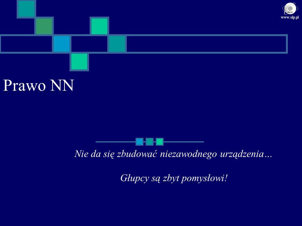 Prawo NN Nie da się zbudować niezawodnego urządzenia… Głupcy są zbyt pomysłowi! www.ulp.pl