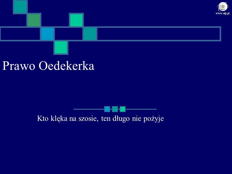 Prawo Oedekerka Kto klęka na szosie, ten długo nie pożyje www.ulp.pl