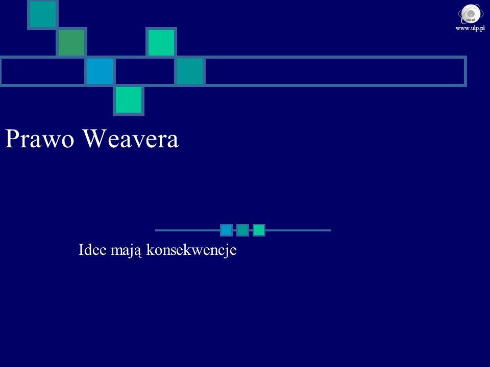 Prawo Weavera Idee mają konsekwencje www.ulp.pl