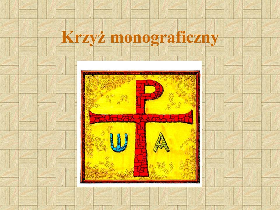 Jest to monogram Chrystusa powstały przez skrzyżowanie liter I i X.