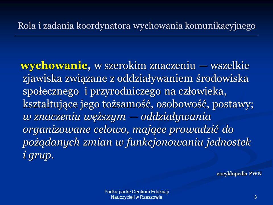 14 Podkarpacke Centrum Edukacji Nauczycieli w Rzeszowie c.d.