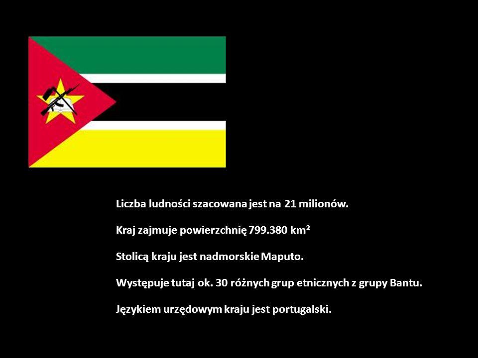 Liczba ludności szacowana jest na 21 milionów. Kraj zajmuje powierzchnię 799.380 km 2 Stolicą kraju jest nadmorskie Maputo. Występuje tutaj ok. 30 róż