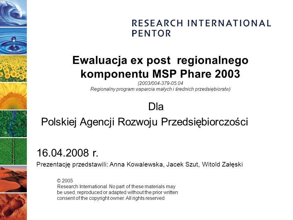 13 Łącznie: 943 wywiady kwestionariuszowe 58 wywiadów pogłębionych 1 wywiad grupowy Przegląd metod badawczych Wywiady bezpośrednie wspomagane komputerowo (CAPI) Wywiady telefoniczne (CATI) Zogniskowane wywiady grupowe Indywidualne wywiady pogłębione Beneficjenci regionalnego Phare 2003 395 beneficjentów FDI (948) 90 beneficjentów PRP (191) 44 beneficjentów PRPE (87) 92 beneficjentów TIdP (162) Po 5 wywiadów z beneficjentami każdego funduszu Nieskuteczni wnioskodawcy 322 nieskutecznych wnioskodawców FDI (3523) Wielokrotni beneficjenci 20 wywiadów PARP 8 wywiadów RIF 1 wywiad grupowy 10 wywiadów